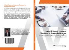 Bookcover of Identifizieren latenter Themen in Foren-Beiträgen