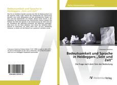 """Buchcover von Bedeutsamkeit und Sprache in Heideggers """"Sein und Zeit"""""""