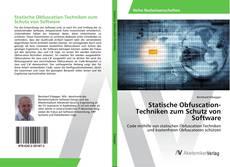 Statische Obfuscation-Techniken zum Schutz von Software kitap kapağı