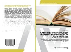 Capa do livro de Antisemitismuserfahrungen deutscher Frontsoldaten im Ersten Weltkrieg