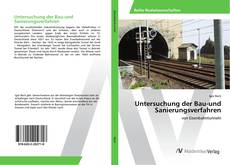 Buchcover von Untersuchung der Bau-und Sanierungsverfahren