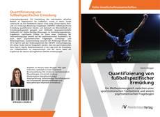 Portada del libro de Quantifizierung von fußballspezifischer Ermüdung
