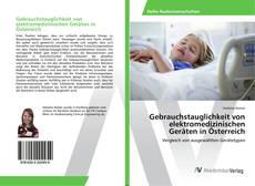Couverture de Gebrauchstauglichkeit von elektromedizinischen Geräten in Österreich