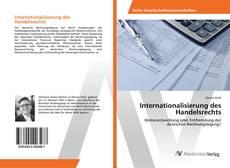 Capa do livro de Internationalisierung des Handelsrechts
