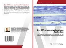 Buchcover von Der Effekt von myofaszialen Techniken
