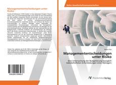 Buchcover von Managemententscheidungen unter Risiko
