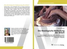 Buchcover von Die theologische Bedeutung der Arbeit