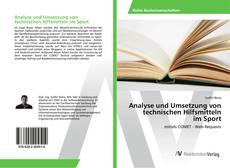 Buchcover von Analyse und Umsetzung von technischen Hilfsmitteln im Sport
