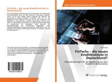 Buchcover von FinTechs – die neuen Kreditinstitute in Deutschland?