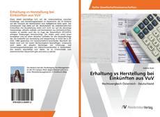 Bookcover of Erhaltung vs Herstellung bei Einkünften aus VuV