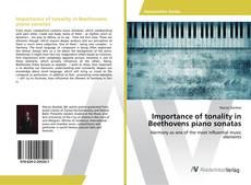 Buchcover von Importance of tonality in Beethovens piano sonatas
