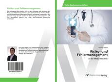 Buchcover von Risiko- und Fehlermanagement