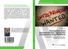 Bookcover of Konzeption einer hochschulnahen regionalen Entrepreneurship-Plattform