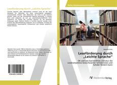 """Buchcover von Leseförderung durch """"Leichte Sprache"""""""