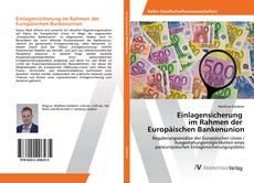 Buchcover von Einlagensicherung im Rahmen der Europäischen Bankenunion
