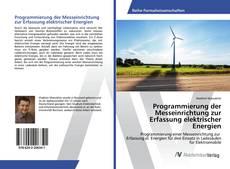 Bookcover of Programmierung der Messeinrichtung zur Erfassung elektrischer Energien
