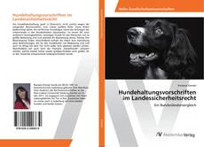 Buchcover von Hundehaltungsvorschriften im Landessicherheitsrecht