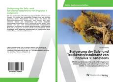 Portada del libro de Steigerung der Salz- und Trockenstresstoleranz von Populus × canescens