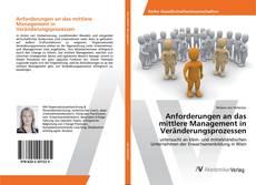 Buchcover von Anforderungen an das mittlere Management in Veränderungsprozessen