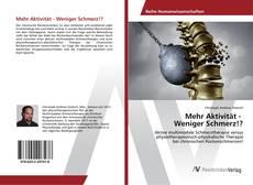 Обложка Mehr Aktivität - Weniger Schmerz!?