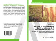 Capa do livro de Change in Biodiversity at Quillow catchment: A newcomer's thesis guide