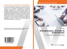 Buchcover von Entrepreneure, Gründer & Unternehmer