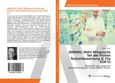 AMNOG: Mehr Mitsprache bei der Frühen Nutzenbewertung (§ 35a SGB V) kitap kapağı