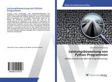 Bookcover of Leistungsbewertung von Python Programmen