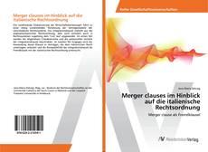 Bookcover of Merger clauses im Hinblick auf die italienische Rechtsordnung