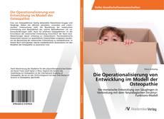 Capa do livro de Die Operationalisierung von Entwicklung im Modell der Osteopathie