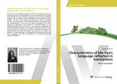 Couverture de Characteristics of Mo Yan's language reflected in translations