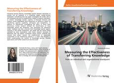 Buchcover von Measuring the Effectiveness of Transferring Knowledge