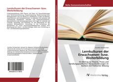 Bookcover of Lernkulturen der Erwachsenen- bzw. Weiterbildung