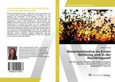 Capa do livro de Hinterlandmotive im Ersten Weltkrieg und in der Nachkriegszeit