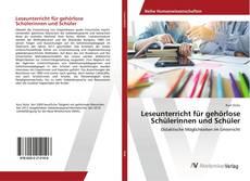 Leseunterricht für gehörlose Schülerinnen und Schüler kitap kapağı