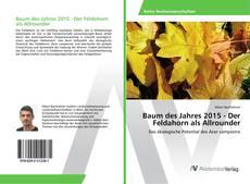 Bookcover of Baum des Jahres 2015 - Der Feldahorn als Allrounder