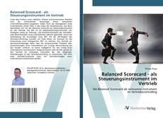 Buchcover von Balanced Scorecard - als Steuerungsinstrument im Vertrieb