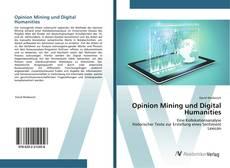 Borítókép a  Opinion Mining und Digital Humanities - hoz