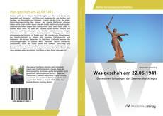 Capa do livro de Was geschah am 22.06.1941