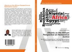 Portada del libro de Ubuntu as the African Perspective on Restorative Justice