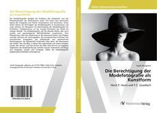 Buchcover von Die Berechtigung der Modefotografie als Kunstform