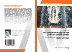 Capa do livro de Krisenkommunikation von Verkehrsunternehmen