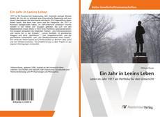 Обложка Ein Jahr in Lenins Leben
