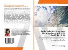 Bookcover of Deliktische Haftung einer AG, ausgehend von OGH GesRZ 2016, 68