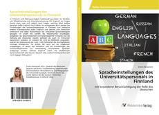 Spracheinstellungen des Universitätspersonals in Finnland kitap kapağı