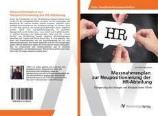 Portada del libro de Massnahmenplan zur Neupositionierung der HR-Abteilung