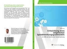 Buchcover von Entwicklung eines empirischen Spindelwirkungsgradmodells