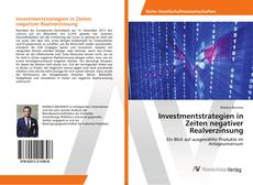 Capa do livro de Investmentstrategien in Zeiten negativer Realverzinsung