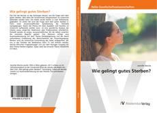 Capa do livro de Wie gelingt gutes Sterben?