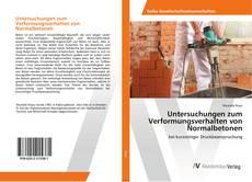 Capa do livro de Untersuchungen zum Verformungsverhalten von Normalbetonen